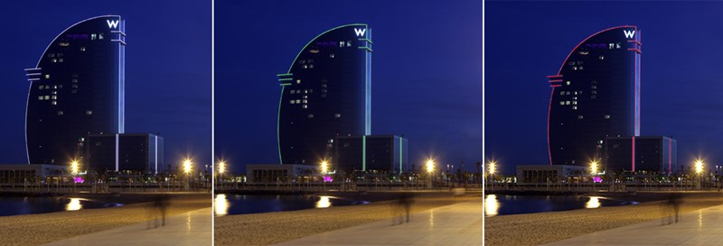 El Hotel W Barcelona estrena iluminación para el 2016